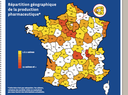 Enquête exclusive : 210 sites de production pharmaceutique en France