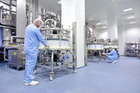 Le site de production d'anticorps monoclonaux de Sanofi à Vitry-sur-Seine (Val-de-Marne).